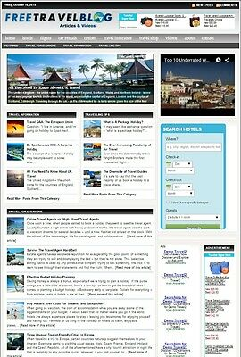 Travel Booking Website Business For Sale With Targeted Seo Content