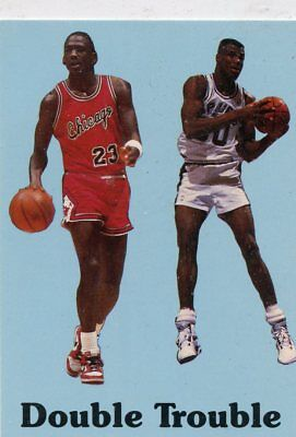 MICHAEL JORDAN / DAVID ROBINSON 1990 Double Trouble Card #NNO BULLS SPURS