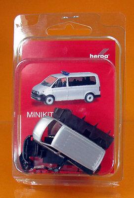 silbermetallic NEU VW T6 Bus OVP herpa 012911 MiniKit