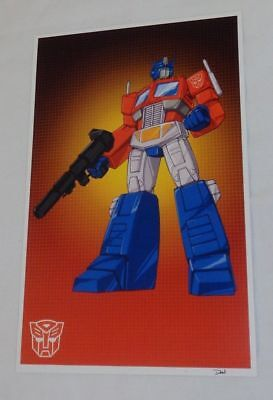 G1 Transformers Autobot Optimus Prime Poster Picture 11x17 Box Art Grid 1t Issue Transformers Prime-poster