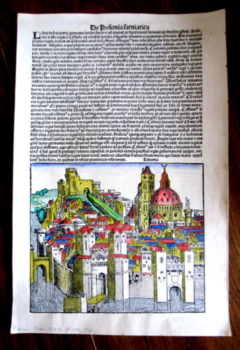 Nuremberg Chronicle - Incunable 1493 - Early Description of Lithuania, Poland