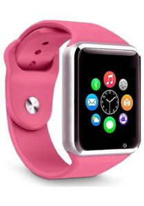 New smart watch works with iPhone Samsung lg htc & sd card 512mb