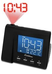 NEW Electrohome Projection Alarm Clock Radio with Battery Backup & Dual Alarm