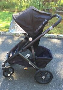 Uppababy Vista 2014 navy carbon frame, structure noire