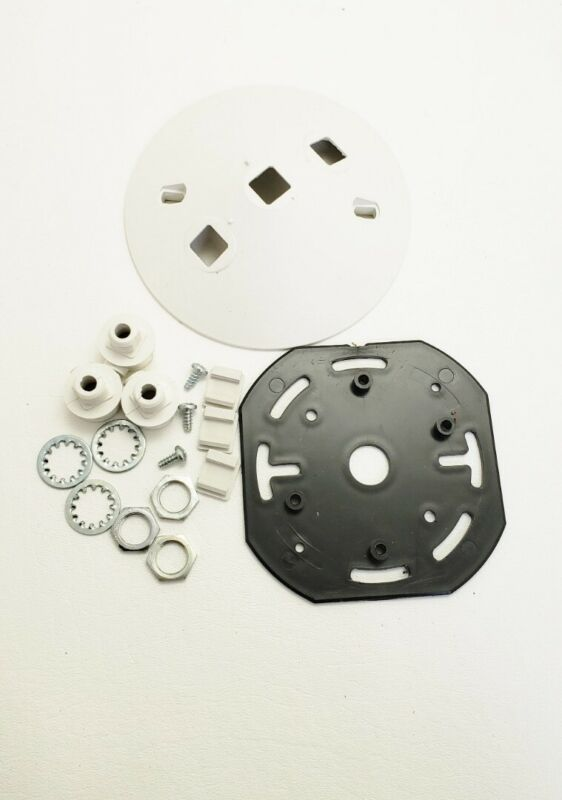 NEW  Lightalarms MHPA-M  White Round Mounting Plate Assembly for Remote Head