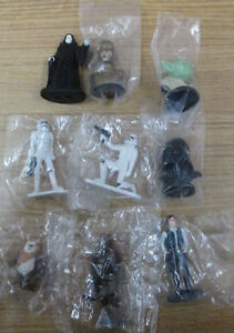 LOT OF 9 STAR WARS CAKE TOPPERS, FIGURINES, 1.5