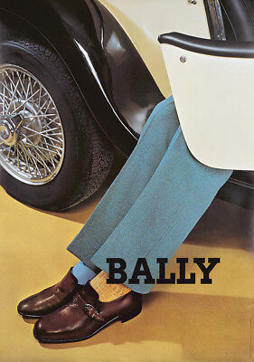 Original Vintage Poster Bally Shoes Men Swiss 1969 Fashion