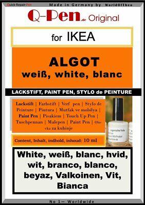 10mL Lackstift für IKEA ALGOT weiß