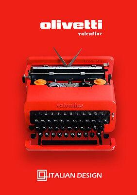 Black Friday Sale!!! THE BEST Olivetti Valentine, Perfectly Working Typewriter