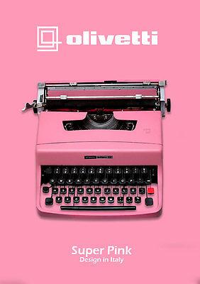 Black Friday Sale!!! LIGHT PINK TYPEWRITER - OLIVETTI 32 - Vintage typewriter