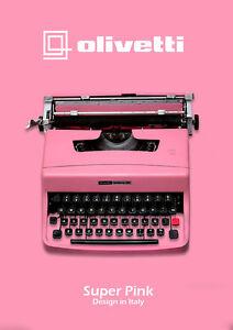 SALE-LIGHT-PINK-TYPEWRITER-OLIVETTI-32-Vintage-typewriter