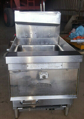 Keating Commercial Natural Gas Countertop Deep Fat Fryer 14cm Tabletop 87000btu