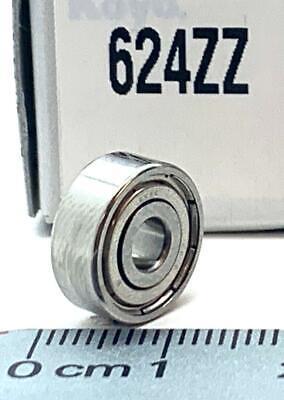 Koyo 624-zz Mini Deep Groove Ball Bearings 4x13x5mm 624zz Same Day Shipping