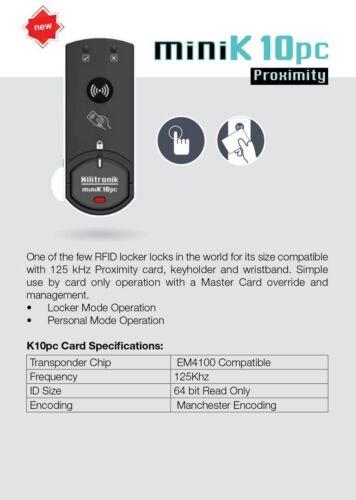 Combi-Cam E miniK-10PC 125Khz RFID Proximity Card Reader Electronic Cabinet Lock