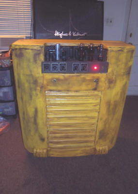 HOMEBREW TUBE GUITAR AMPLIFIER TV YELLOW EASTERN LONG ISLAND PICK UP ONLY