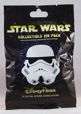 Disney Pin Collectible STAR WARS  STORM TROOPER  Mystery Pack Random Set of 5