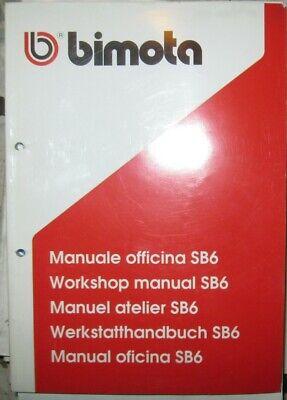 * Bimota SB6 SB 6  WERKSTATTHANDBUCH Workshop Manual Manuale officina