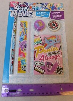 My Little Pony Merchandise (My Little Pony Stationary Set 5 pcs Pencil Ruler UK Merchandise Shipping from)