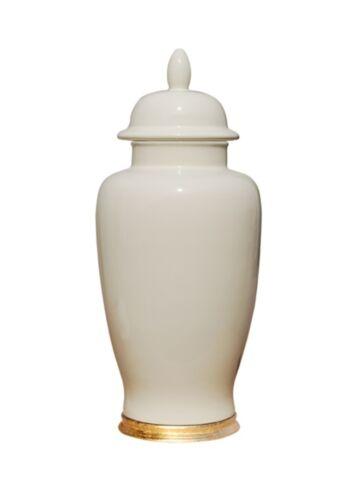 "Beautiful Dove White Porcelain Temple Jar 16"""