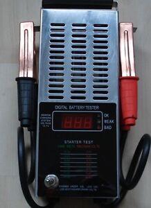 BGS Auto Batterie Tester, digitaler Batterietester für 12 Volt Autobatterien