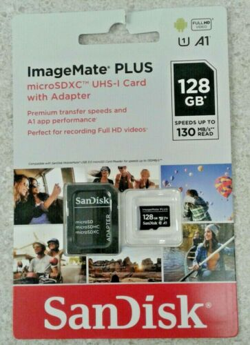 SanDisk NEW ImageMate PLUS 128GB MicroSDXC UHS-I Card