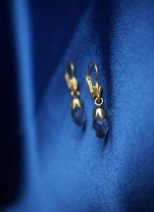 Ohrringe Gold Aquamarin Art Deco Antik Jugendstil