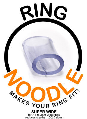 Ring Guard, Ring Size Reducer by RING NOODLE - 3 pack (SUPER WIDE)