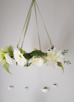 Flower mobile decor