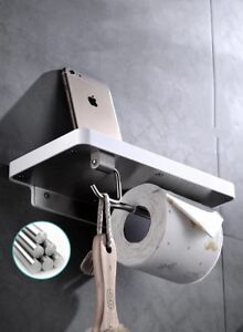 Brand new stainless steel toilet paper holder with top tray