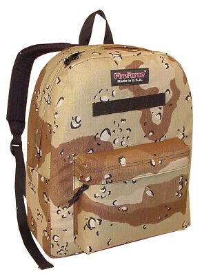 Classic Backpack Bookbag Student School Bag in Chocolate Chip Desert Made in (Usa Student)