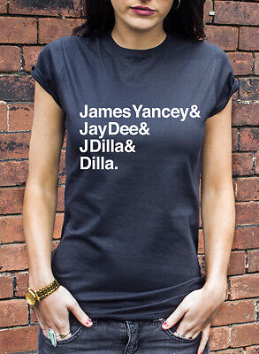 James Yancey J Dilla Jay Dee T-Shirt Hip Hop Music Delicious Vinyl T Shirt L202
