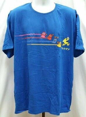 New NWOT Loot Crate Lootwear Pac-Man Royal Blue T Shirt Size 2XL N174