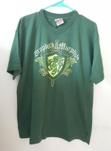 Dropkick Murphys 2014 St Paddys Day Tour Concert Shirt Large - L Tshirt Green