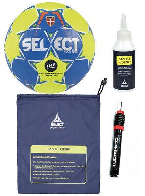Select Handball Maxi Grip 2.0 Set -Gr.3 (Herren)+ Balllbeutel +ReGrip +Ballpumpe - Hand Grip Set