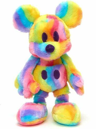 BNWT Disney Store pastel Mickey Mouse rainbow soft toy plush cuddly toy PRIDE