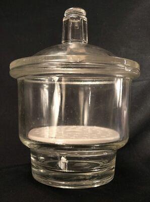 Vintage Pyrex Desiccator Lab Jar With Lid Coors Porcelain Insert