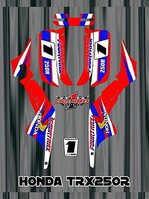 TRX250R TRX 250R HONDA FOURTRAXM SEMI CUSTOM GRAPHICS KIT CLASSIC RETRO