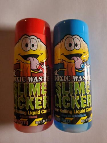 SEALED Toxic Waste Slime Licker Lickers Candy (1) Strawberry (1) Blue Raspberry