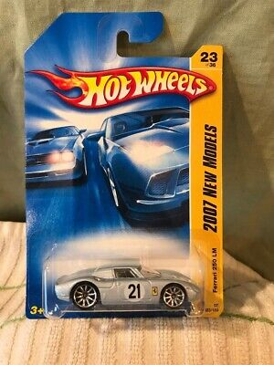 1/64 Hot Wheels 2007 New Models Ferrari 250 LM #23 Silver / Silver Wire Wheels