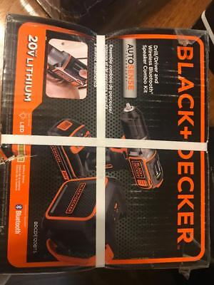 NEW Black and Decker Drill/Driver w/ Bluetooth Wireless Spec