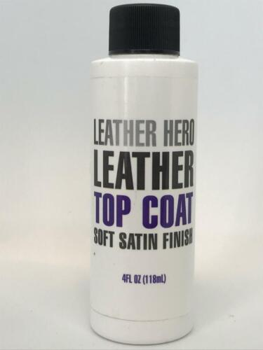 Satin Top Coat Leather Finish Sealant for Leather Hero Color Restorer 4oz