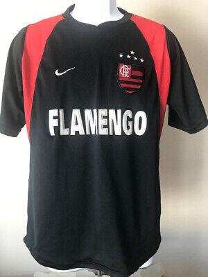 ffc8fdf09 vtg FLAMENGO JERSEY vintage distressed red black Soccer Team Futbol  Embroidered