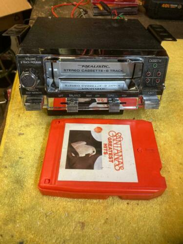 8 TRACK AND CASSETTE PLAYER BOTH by Realistic RARE!! SERVICED TESTED