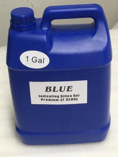 1 Gallon(7.5 LBS) Premium Blue Indicating Silica Gel Desiccant Beads