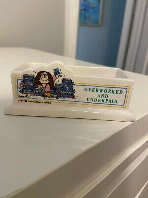 Vintage Kathy Cartoon Business Card Holder