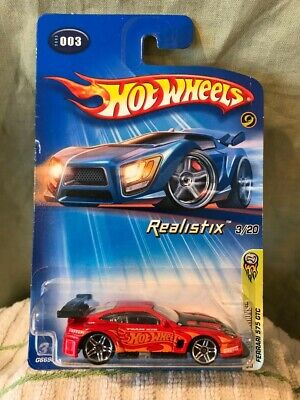 1/64 Hot Wheels 2005 First Edition Ferrari 575 GTC Realistix #3 Rough Card