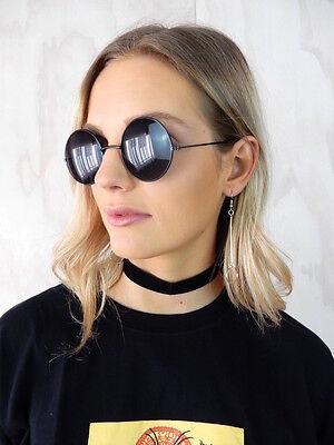 BLACK VELVET CHOKER Thick 2cm Simple Gothic 90s Retro Fashion Necklace Womens