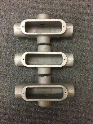 Crouse-hinds X29 34 X Aluminum Condulet Lot Of 3