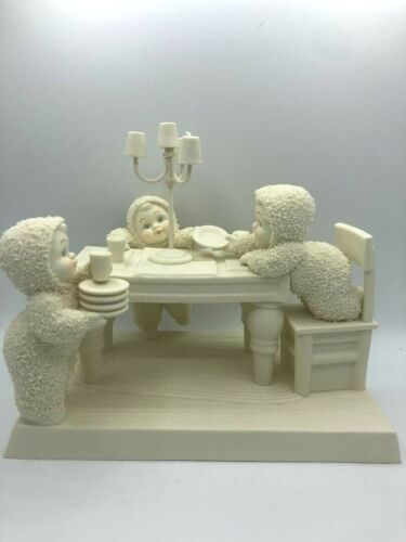 SnowBabies Dept 56 Classic Collection 2007 Lets Use The Good China Figurine
