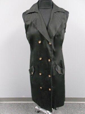 J. MCLAUGHLIN Black Solid Cotton Blend Sleeveless Shirt Dress Size 14 EE5117